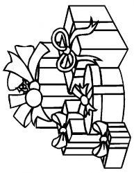 plansa de colorat craciun cadouri de colorat p16