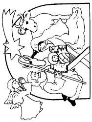 plansa de colorat craciun cei trei magi de colorat p02