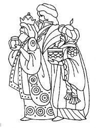 plansa de colorat craciun cei trei magi de colorat p13