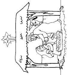 plansa de colorat craciun cei trei magi de colorat p16