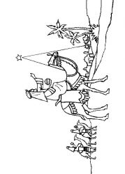 plansa de colorat craciun cei trei magi de colorat p21