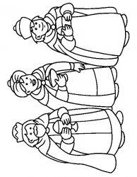 plansa de colorat craciun cei trei magi de colorat p30