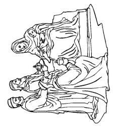 plansa de colorat craciun cei trei magi de colorat p34