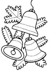 plansa de colorat craciun clopotei de colorat p14