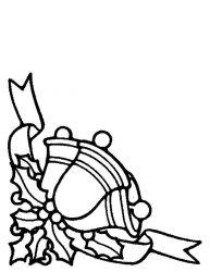 plansa de colorat craciun clopotei de colorat p17