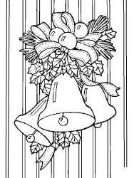 plansa de colorat craciun clopotei de colorat p21