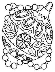 plansa de colorat craciun globuri de colorat p05