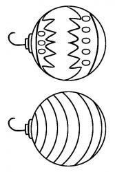 plansa de colorat craciun globuri de colorat p09