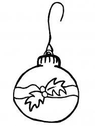 plansa de colorat craciun ornamente de colorat p34