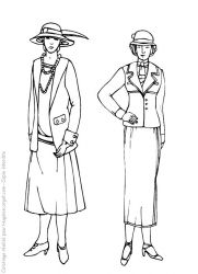 plansa de colorat fashion de colorat p02