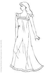 plansa de colorat fashion de colorat p07
