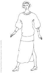 plansa de colorat fashion de colorat p08