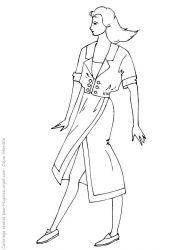plansa de colorat fashion de colorat p09