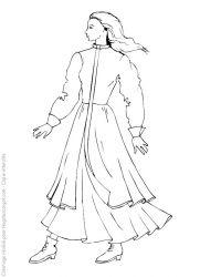 plansa de colorat fashion de colorat p12