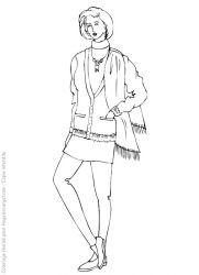 plansa de colorat fashion de colorat p13