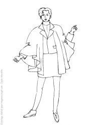 plansa de colorat fashion de colorat p14