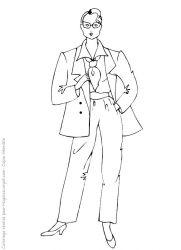 plansa de colorat fashion de colorat p21