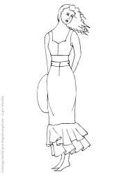 plansa de colorat fashion de colorat p22