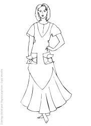 plansa de colorat fashion de colorat p24