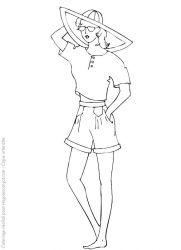 plansa de colorat fashion de colorat p25