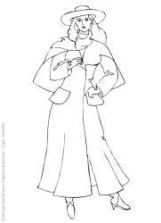 plansa de colorat fashion de colorat p26