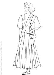 plansa de colorat fashion de colorat p34