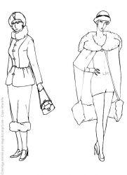 plansa de colorat fashion de colorat p35