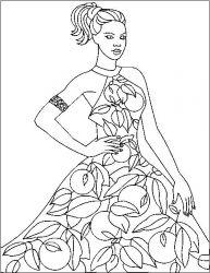 plansa de colorat fashion de colorat p41