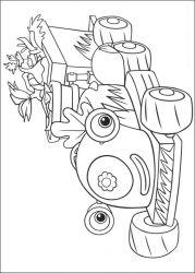 plansa de colorat fifi si floricelele de colorat p01