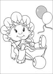 plansa de colorat fifi si floricelele de colorat p06