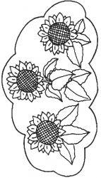 plansa de colorat floarea soarelui de colorat p06
