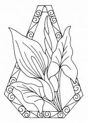 plansa de colorat flori cale de colorat p01