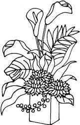 plansa de colorat flori cale de colorat p07