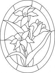 plansa de colorat flori crini de colorat p04