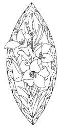 plansa de colorat flori crini de colorat p10
