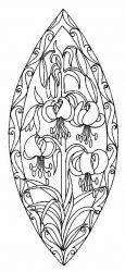 plansa de colorat flori crini de colorat p11
