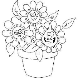 plansa de colorat flori de colorat p06
