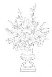 plansa de colorat flori de colorat p40