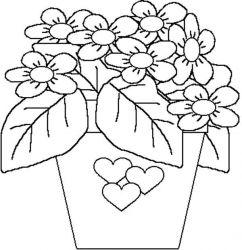 plansa de colorat flori de colorat p44
