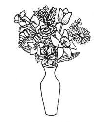 plansa de colorat flori de colorat p47