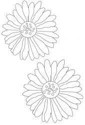 plansa de colorat flori de colorat p59