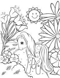 plansa de colorat flori de colorat p69