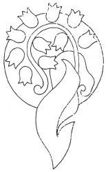 plansa de colorat flori lacramioare de colorat p05