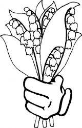 plansa de colorat flori lacramioare de colorat p25