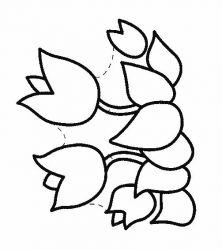 plansa de colorat flori lalele de colorat p09