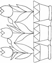 plansa de colorat flori lalele de colorat p12