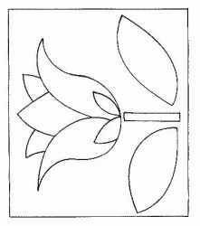 plansa de colorat flori lalele de colorat p13