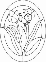 plansa de colorat flori lalele de colorat p15