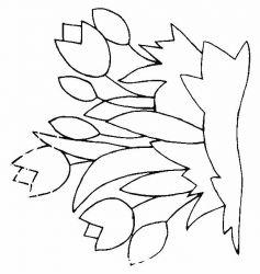 plansa de colorat flori lalele de colorat p19