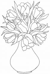 plansa de colorat flori lalele de colorat p20